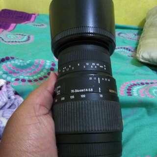 lensa sigma tele 70-300 dan flash eksternal