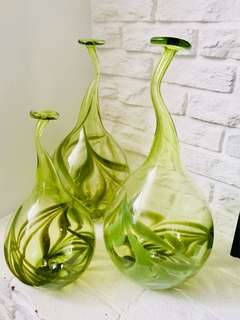 Hand Blown Glass Decorative Vases