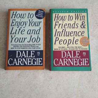Books 1) How to enjoy your life and your job 2) How to win Friends & Influence People