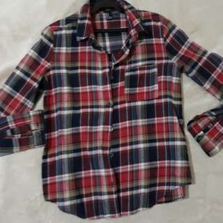 F21 red flannel long sleeves