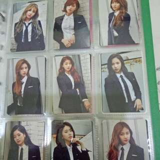 Twice official once begins photocards