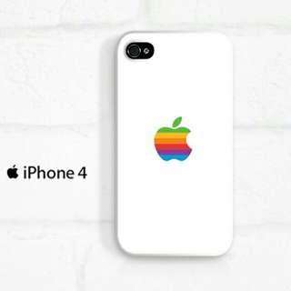 Apple Logo Watch iPhone 4 - 4s Custom Hard Case
