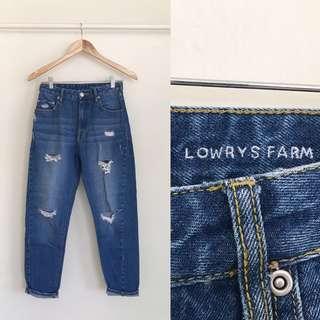 Lowry Farm Distressed Denim Jeans