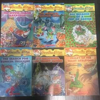 Geronimo Stilton soft cover books