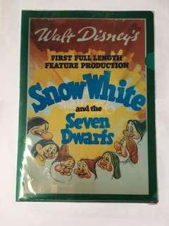 懷舊 白雪公主 Snow White A4 文件夾