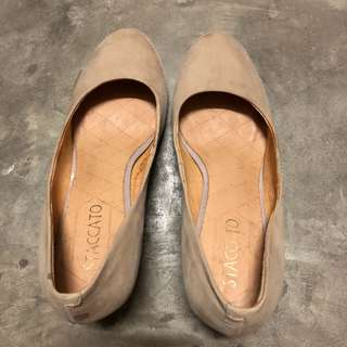 Staccato Beige Classic Suede Pumps