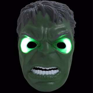Superheroes Cosplay Anime Mask with LED - Hulk Green Monster