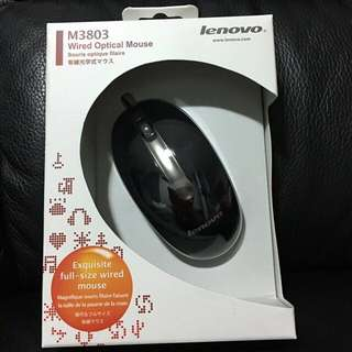 Brand New Lenovo Wired Optical Mouse
