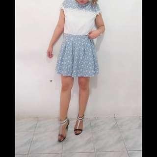 GetthisOTD: Denim lace dress.