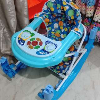 2 in 1 apruva blue walker/rocker