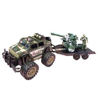 Army Soldier Military Truck with Battle Tank Play set