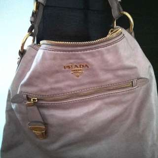 Reduced from $500 ! Prada Hobo Bag ( Dusty rose) Leather