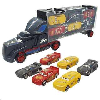 Truck Set with 6 Small Racing cars