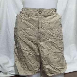 EDDIE BAUER beige plus size ladies walking shorts 16