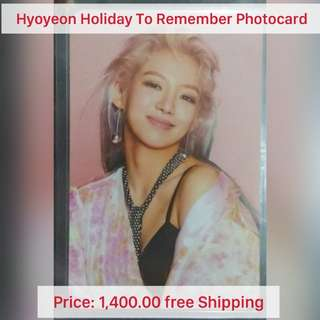 Girls' Generation Hyoyeon Holiday to Remember Photocard