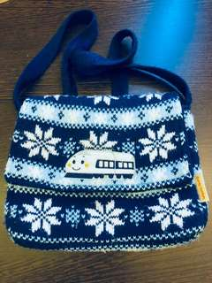 Sanrio Shinkansen Knitted and Lined Sling Bag Small Bag
