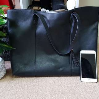 PRICE REDUCED Black tote bag