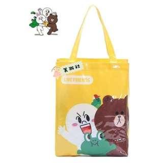 【卡通品牌】LINE :Tote bag:黃色 ($23)