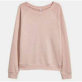H&M NEW Sweater Sweatshirt Hoodie Babypink Murah