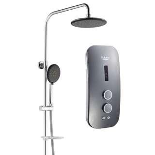 Rubine DC Pump Rain Shower Water Heater - Silver Titanium (RWH-SSE851D-RST)