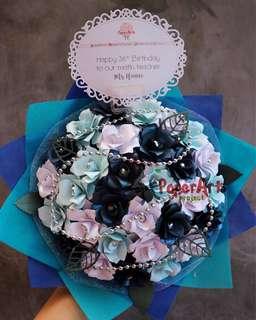 Paper Flower Bouquet / Buket Bunga 20 cm