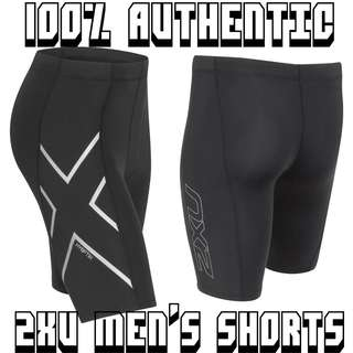 L size 2XU Men's Compression Shorts (Half 1/2 Tights) Hyoptik Design Night Run