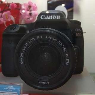 CANON EOS 80D Cukup Dp + Free 1X Cicilan Tanpa Kartu Kredit