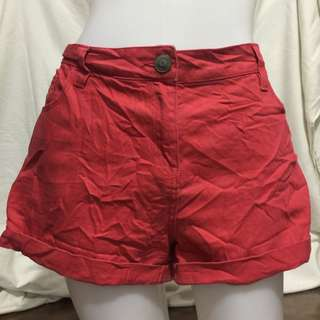 PAPAYA DENIM red plus size ladies walking/sexy shorts 14