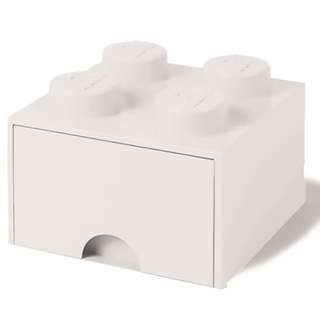 Lego 4-Stud Storage Brick Drawer - WHITE (LS-40051735)