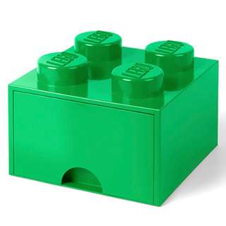 Lego 4-Stud Storage Brick Drawer - GREEN (LS-40051734)