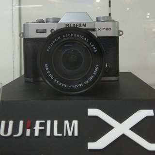 Fujifilm X-T20 16-50/SL DP 0% + Free 1X Cicilan Cukup Admin 199.000