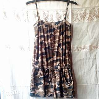 Army style romper