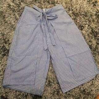 Square Navy Kulot / Pants