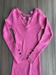 全新 長版洋裝(S~M適穿)短袖/T恤//素T 長版上衣,非外套 長褲 短褲
