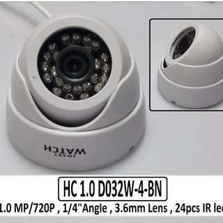720p Dome Type 1.0 MP Camera