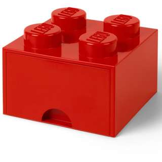 Lego 4-Stud Storage Brick Drawer - RED (LS-40051730)