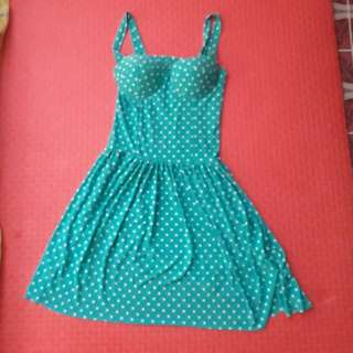 Dress Mint Green Corset