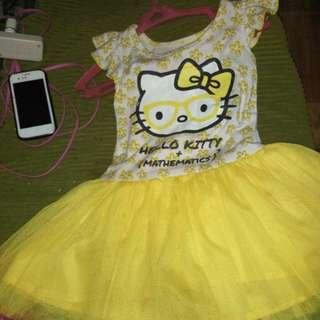 Tutu yellow dress