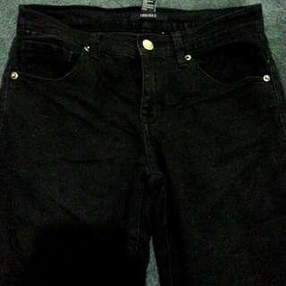 Forever 21 Black Highwaist Jeans