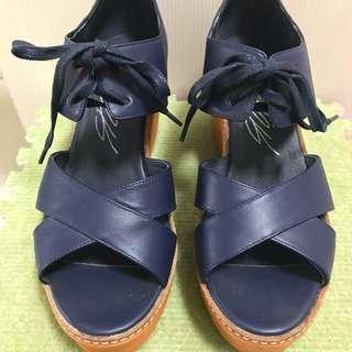 agnes b.副牌sport b.女厚底涼鞋
