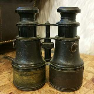 Antique Leather Wrap Binoculars