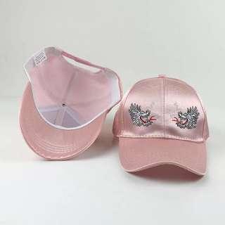KOREAN ULZZANG PINK EMBROIDERY DRAGON CAP