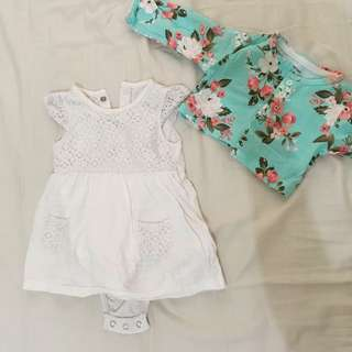 Carters baby dress with cardigan