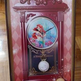 Disney美人魚掛鐘