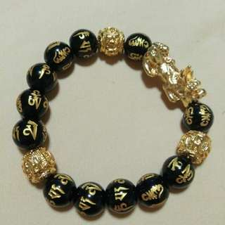 Bracelet with Mantra n Pixiu