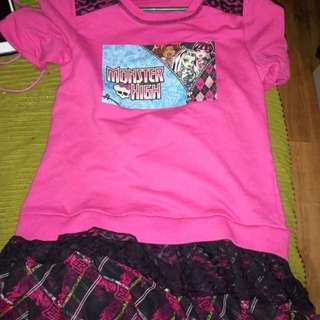 Monster high dress 6-7 years old