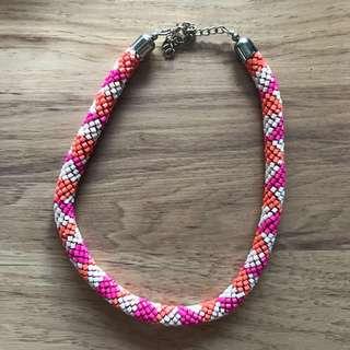Gaudi Pink-orange Summer Necklace
