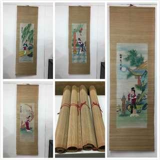 非凡二手家具 中國四大美女 掛畫*裝飾畫*擺飾畫*藝術畫*玄關畫*掛圖*壁畫