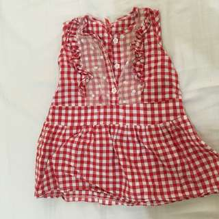 Dress checkered baby girl