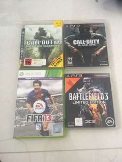 PS3 Games and Xbox games